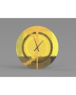 Shop For East Urban Home Oversized Chery Wall Clock Metal In Brown Yellow Size 2 L X 30 W X 30 H Wayfair X113589168