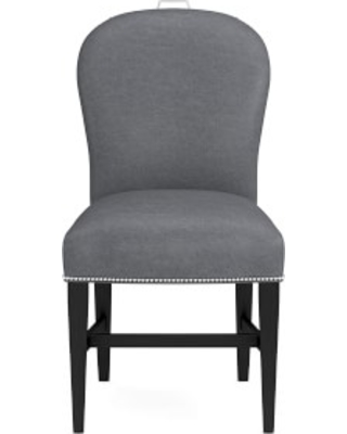 Maxwell Dining Side Chair with Handle, Italian Distressed Leather, Iron