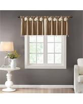 Lillian Twisted Tab Valance With Beads - Bronze - (50x26)
