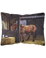 Spectacular Deals On Horses In The Meadow Fabric Decorative Pillow