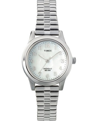 Timex Women's Essex Avenue Silver Stainless Steel Expansion Band Watch