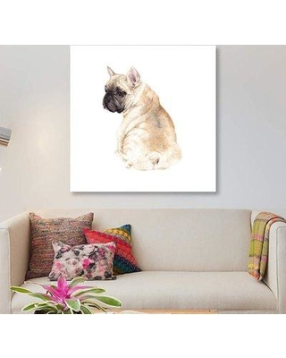 """East Urban Home 'Frenchie' Print on Canvas ETRB5386 Size: 12"""" H x 12"""" W x 0.75"""" D"""