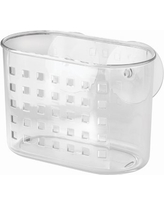 """iDesign Plastic Suction Shower Caddy Basket for Shampoo, Conditioner, Soap, Creams, Towels, Razors, Loofahs in Master, Guest, Kid's Bathroom, 7.25"""" x 4.5"""" x 6.5"""", Clear"""