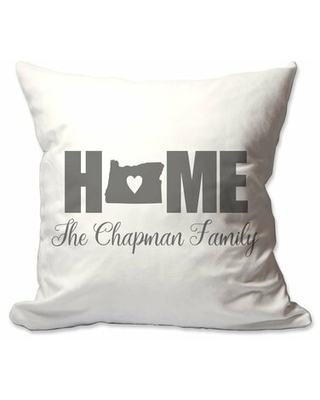 Personalized Oregon Home with Heart Throw Pillow East Urban Home Customize: Yes