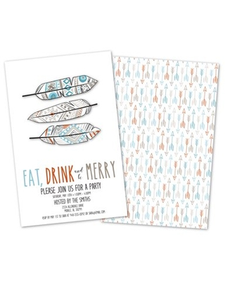 Personalized Feathers Party Invitations