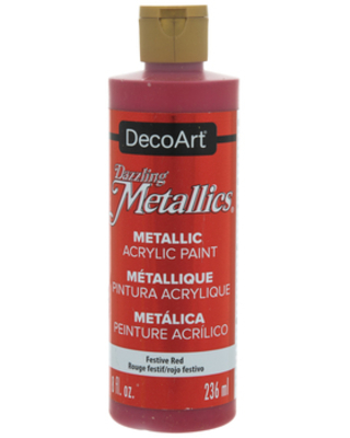 Festive Red Dazzling Metallics Acrylic Paint - 8 Ounce