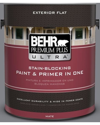 BEHR ULTRA 1 gal. #N530-5 Mission Control Flat Exterior Paint and Primer in One
