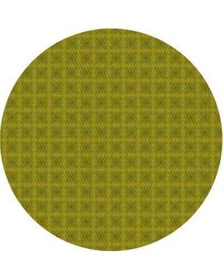 East Urban Home Patterned 3875 Yellow Area Rug X112770036 Rug Size: Round 5'