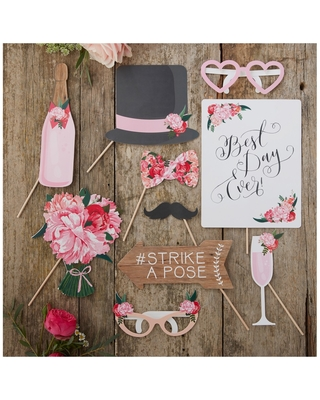 Ginger Ray Boho Wedding Photo Booth Props Selfie Party Celebrations Party Fun