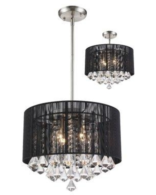 Here S A Great Deal On Mercer41 Kent 4 Light Drum Chandelier Shade Metal In Black Size 15 H X 16 W X 16 D Wayfair 4bd945cb113d46bfb111ab78a5ba79ba