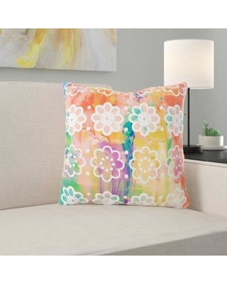 Ebern Designs Wakeman Watercolour Throw Pillow X112342296 Cover Material: Synthetic Location: Outdoor