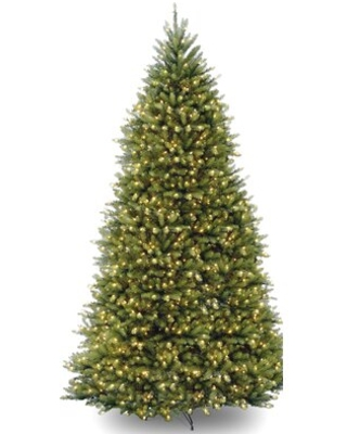Dunhill Fir Green Artificial Christmas Tree with Color + Clear Lights Size: 7.5' H