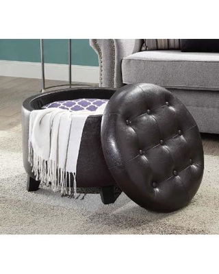 Awe Inspiring Find The Best Deals On Round Espresso Ottoman Convenience Pdpeps Interior Chair Design Pdpepsorg