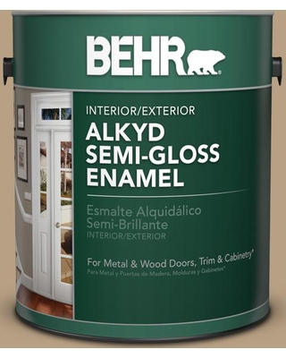 BEHR 1 gal. Home Decorators Collection #hdc-AC-12 Craft Brown Semi-Gloss Enamel Alkyd Interior/Exterior Paint