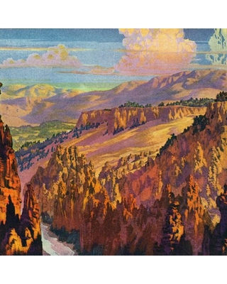 """""""Grand Canyon"""" Painting Print on Wrapped Canvas"""
