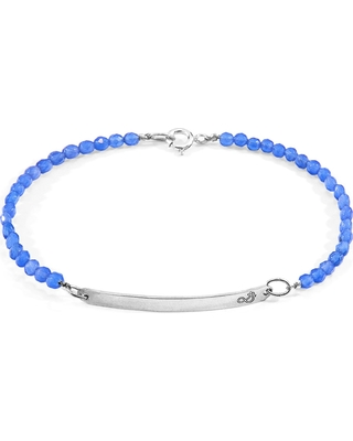 ANCHOR & CREW - Blue Agate Purity Silver & Stone Bracelet