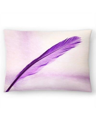 """East Urban Home Feather Lumbar Pillow EBIC7442 Size: 14"""" H x 20"""" W"""