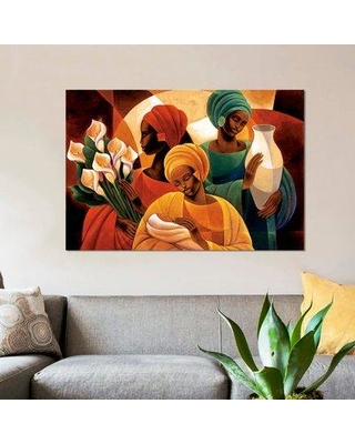 """East Urban Home 'Caress' Graphic Art Print on Canvas ESUH5309 Size: 26"""" H x 40"""" W x 0.75"""" D"""