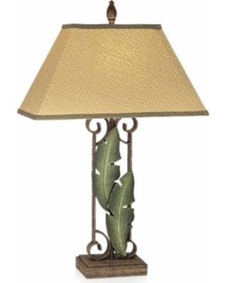 Pacific Coast Lighting Banana Leaves 31 Inch Table Lamp - 87-106i-81