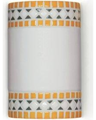 A19 Mosaic Borders 1-Light Wall Sconce M20301 Finish: Sunflower Yellow Bulb Type: Incandescent Wet Location Compatible: No