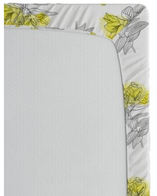 Pentacle Floral / Flower Fitted Sheet East Urban Home Size: Full