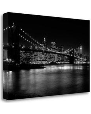 """Tangletown Fine Art 'NYC Nights' Photographic Print on Wrapped Canvas CAPNP104-2416c Size: 26"""" H x 39"""" W"""