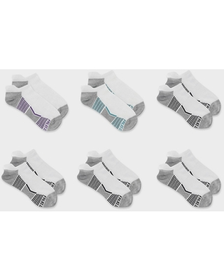 Fruit of the Loom Women's Breathable Cotton Lightweight 6pk No Show Tab Athletic Socks - White 4-10, Women's, Size: Small