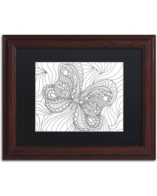 "Trademark Fine Art ""Mixed Coloring Book 57"" Canvas Art by Kathy G. Ahrens, Black Matte, Wood Frame"