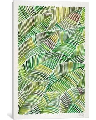 """East Urban Home 'Tropical Leaves IV' Painting Print on Canvas ESUR4991 Size: 26"""" H x 18"""" W x 1.5"""" D"""