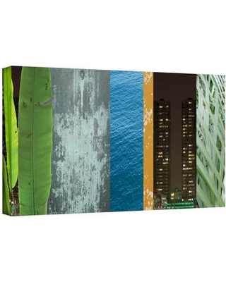 """ArtWall 'Mixed Industry I' by Jan Weiss Graphic Art on Wrapped Canvas janw-011--w Size: 16"""" H x 48"""" W"""