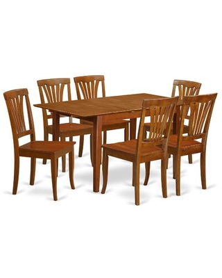 Great Sales On Cartley Extendable Dining Set Red Barrel Studioâ Pieces Included 7 Pieces 1 Table 6 Chairs