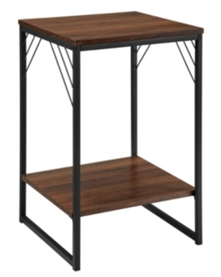 """Closeout Walker Edison 16"""" Industrial Metal Accent Side Table"""