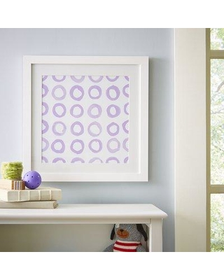 Isabelle & Max 'Circle Repeat Pattern' Framed Graphic Art Print W001233917