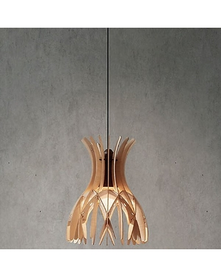 Domita Mini Pendant Light by Bover - Color: Brown - Finish: Natural Wood - (25802200114U)