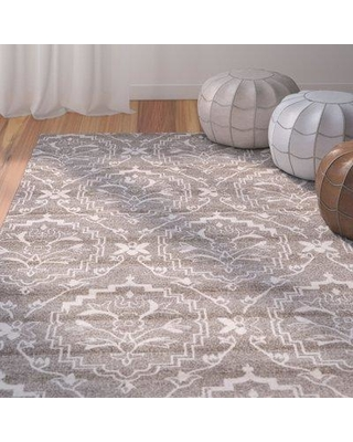 Bungalow Rose Ezequiel Light Brown Area Rug BNRS1140 Rug Size: Rectangle 7' x 10'