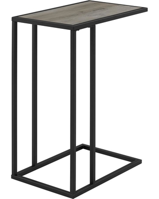 9442b152eb25c Walker Edison Furniture Company 20 in. Gray Wash Urban Industrial Modern  Contemporary Transitional Asymmetrical Side Accent Table Nightstand