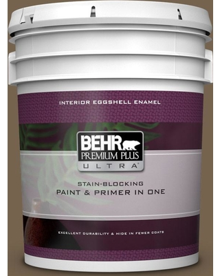 BEHR ULTRA 5 gal. Home Decorators Collection #HDC-SM14-4 Tan Bark Trail Eggshell Enamel Interior Paint & Primer
