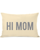 'Hi Mom' Throw Pillow (Accent - Polyester - Yellow - Single)