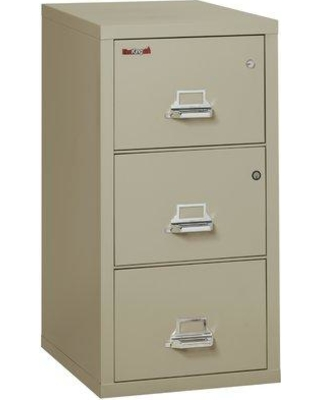 FireKing Legal Safe-In-A-File Fireproof 3-Drawer Vertical File Cabinet Color: Taupe, Interior Color: Parchment, Steel/Metal in Taupe/Parchment