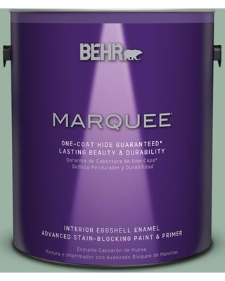 BEHR MARQUEE 1 gal. #S410-4 Copper Patina One-Coat Hide Eggshell Enamel Interior Paint and Primer in One