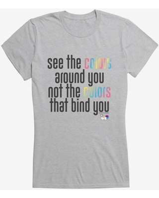 Cupcakes Chronicles See All The Colors Around You Girls T-Shirt