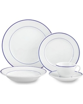 Apilco Tradition Blue-Banded 20-Piece Dinnerware Set