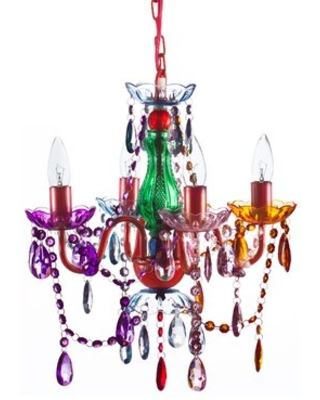 4 - Light Candle Style Classic / Traditional Chandelier with Acrylic Crystal Accents