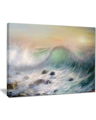 "East Urban Home 'Mountains of Waves' Oil Painting Print on Canvas EAAE8372 Size: 40 "" W x 30 "" H"
