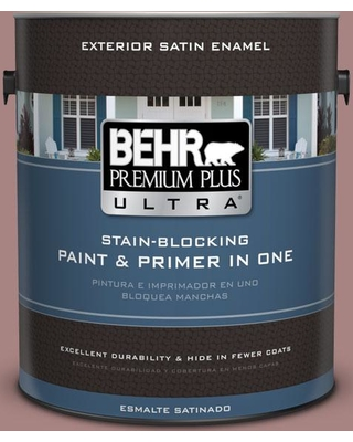 BEHR ULTRA 1 gal. #700B-4 Muse Satin Enamel Exterior Paint and Primer in One