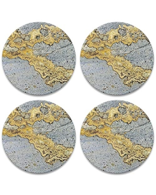CoasterStone Gold Vein Set of 4 Coasters, One Size, Multicolored