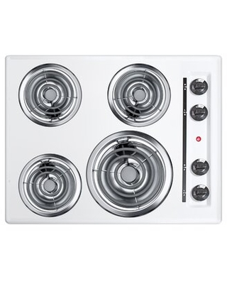 """Summit 24"""" Electric Cooktop with 4 Burners Summit Appliance"""