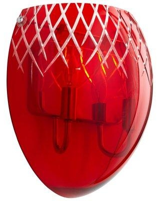 Cyan Design Etched 2 - Light Chrome Flush Mount 76 Shade Color: Red Etched