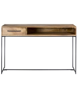 Colvin Collection SR-1027-24 Console Table with Iron Frame in Natural