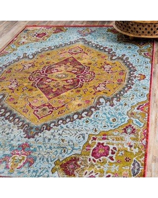 Can T Miss Bargains On Bungalow Rose Lonerock Yellow Red Area Rug
